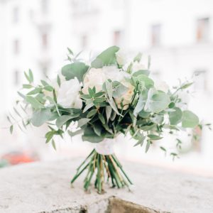 eucalyptus wedding bouquet