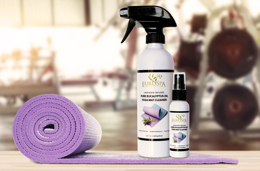 EuroSpa Aromatics Lavender-Infused Pure Eucalyptus Oil Yoga Mat Cleaner