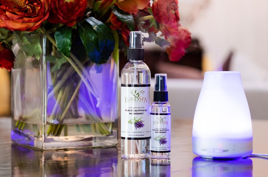 EuroSpa Aromatics Lavender-Infused Pure Eucalyptus Oil ShowerMist & Diffuser