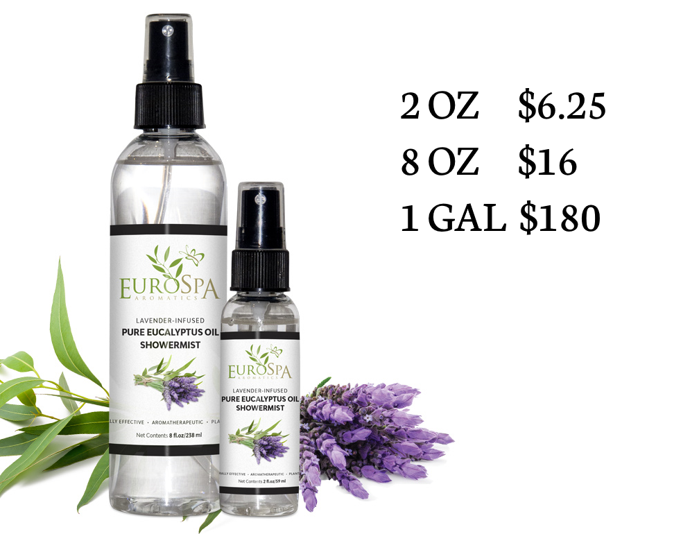 EuroSpa Aromatics Pure Eucalyptus Oil ShowerMist